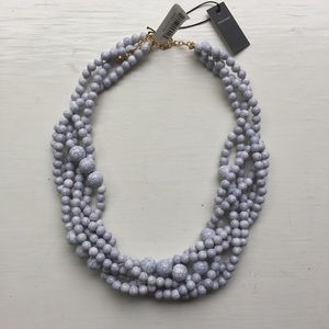 NWT Baublebar Bubblestream Necklace, Howlite Gray